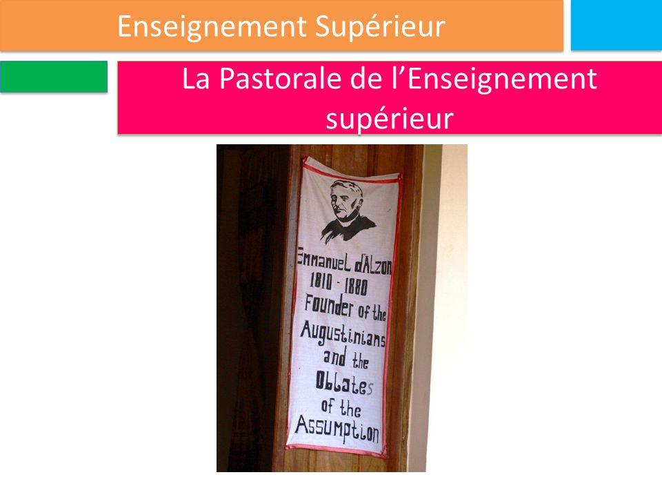Enseignement Supérieur La Pastorale de l'Enseignement supérieur