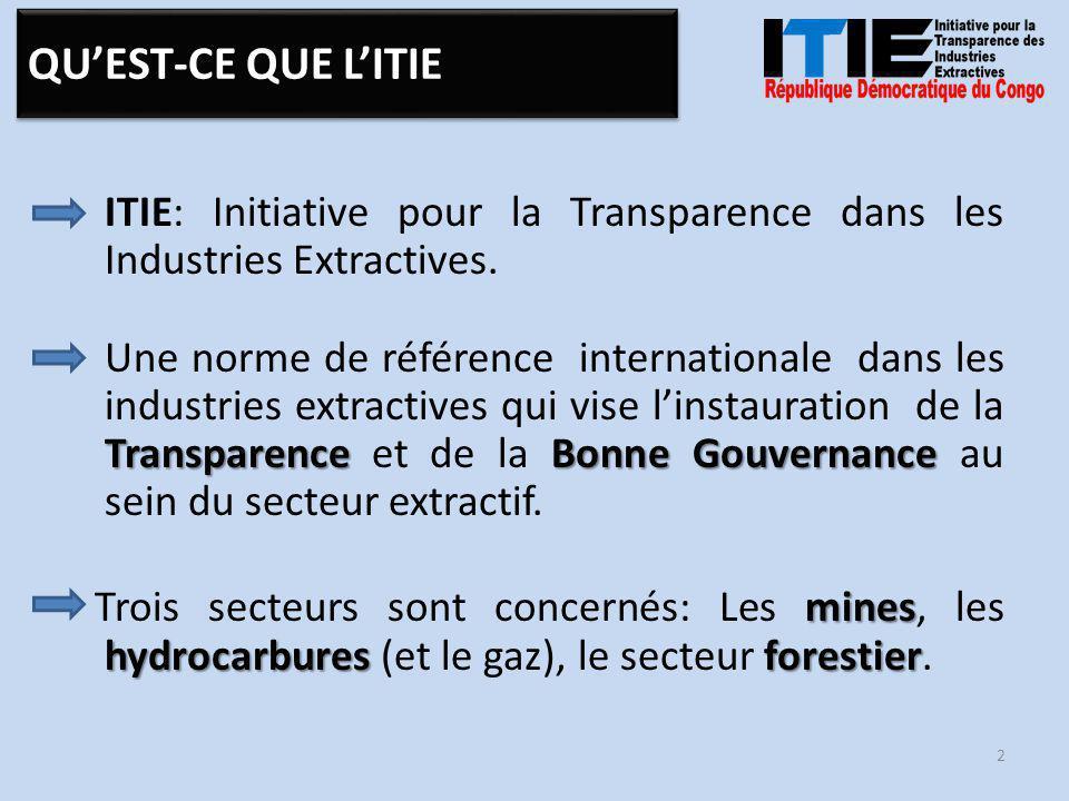ITIE comme norme est faite (selon la nouvelle Norme) : Principes (12) : – des Principes (12) : qui définissent de manière générale les objectifs et les engagements de toutes les parties prenantes.