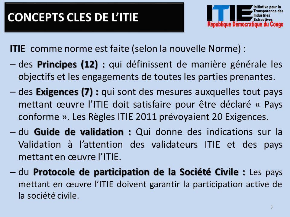 COMITE EXECUTIF Secrétariat Technique 14 ARCHITECTURE DE L'ITIE-RDC