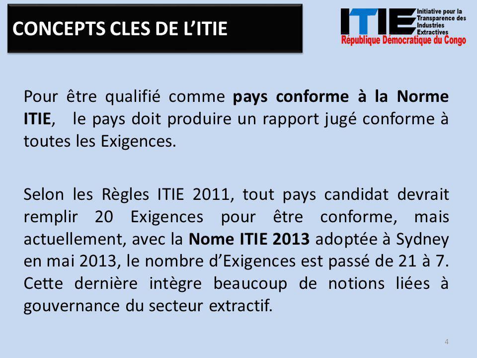 a adhéré a été admis Pays candidat La République Démocratique du Congo a adhéré à l'ITIE en 2005 et le pays a été admis comme Pays candidat en novembre 2007.