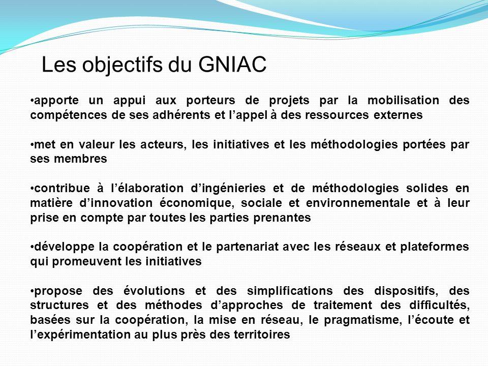 Les objectifs du GNIAC apporte un appui aux porteurs de projets par la mobilisation des compétences de ses adhérents et l'appel à des ressources exter