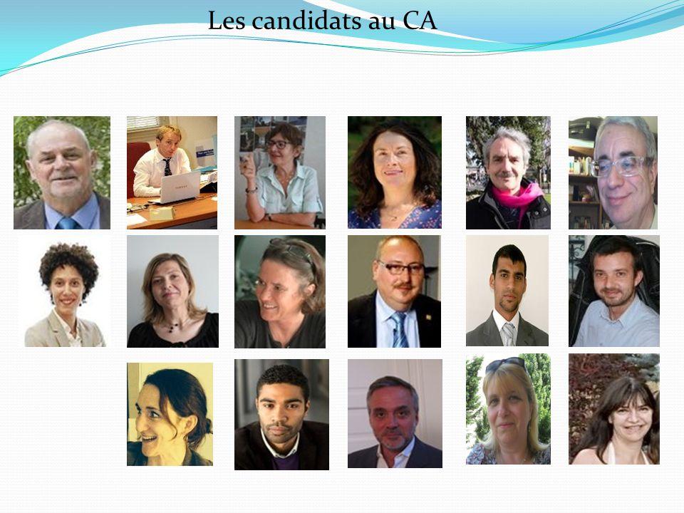 Les candidats au CA