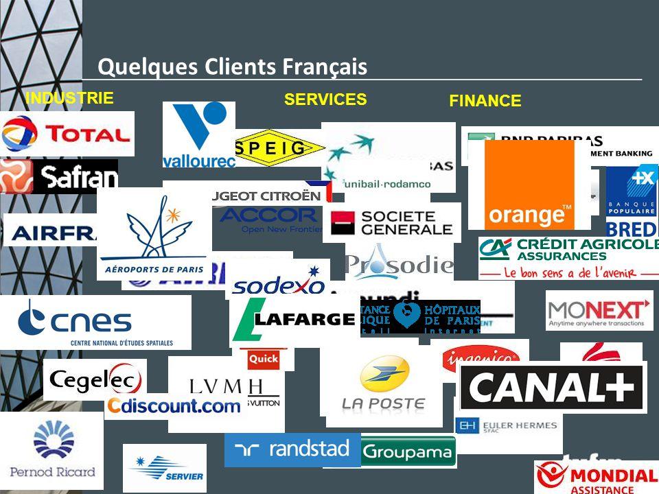 Quelques Clients Français INDUSTRIE FINANCE SERVICES