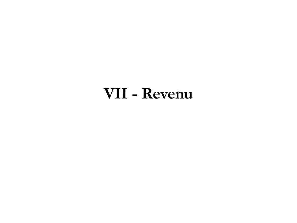 VII - Revenu