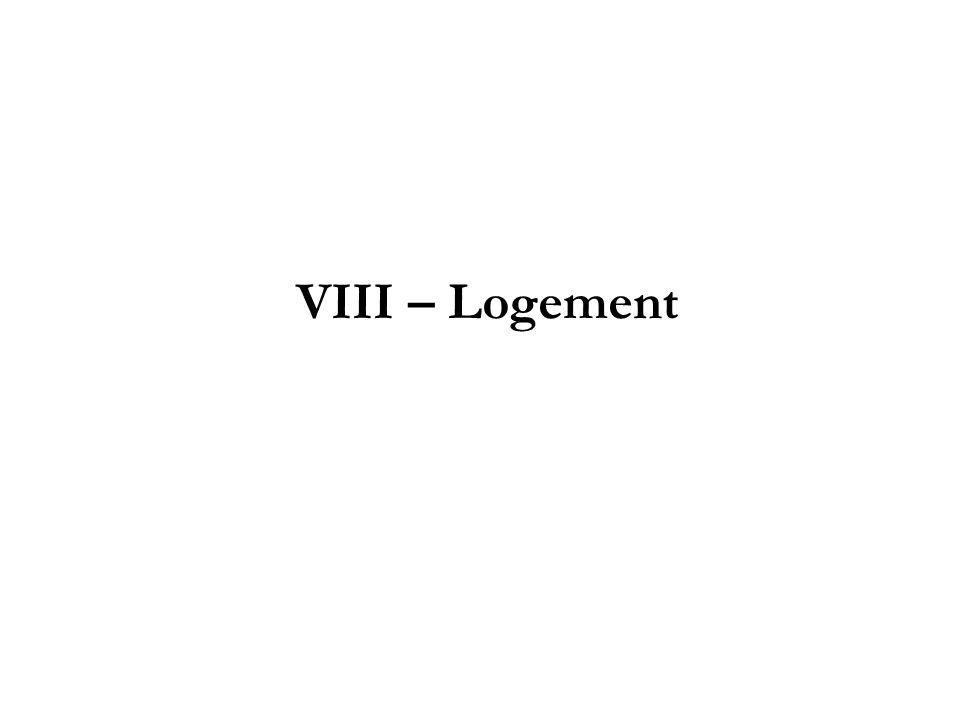 VIII – Logement
