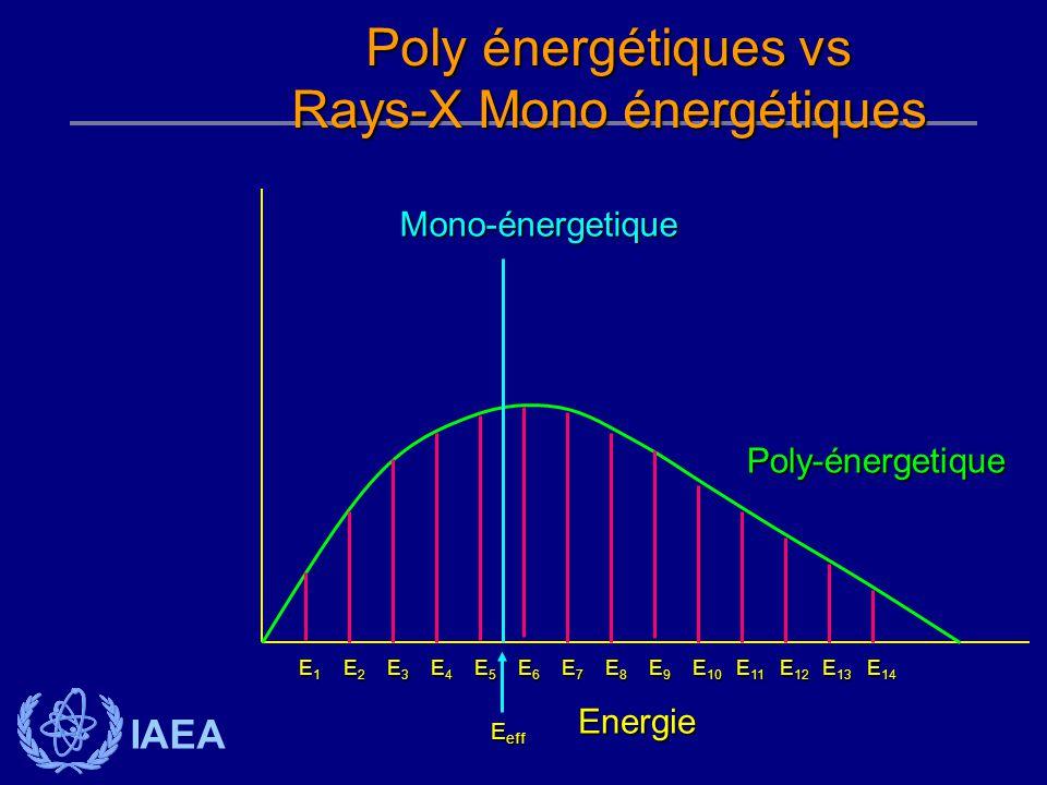 IAEA Energie Poly-énergetique E1E1E1E1 E6E6E6E6 E7E7E7E7 E8E8E8E8 E9E9E9E9 E 10 E 11 E 12 E 13 E 14 E2E2E2E2 E3E3E3E3 E4E4E4E4 E5E5E5E5 Mono-énergetiq