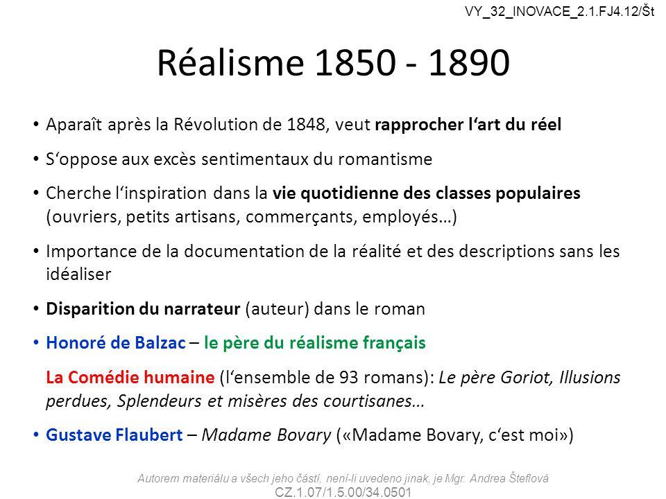 Réalisme 1850 - 1890 Aparaît après la Révolution de 1848, veut rapprocher l'art du réel S'oppose aux excès sentimentaux du romantisme Cherche l'inspir