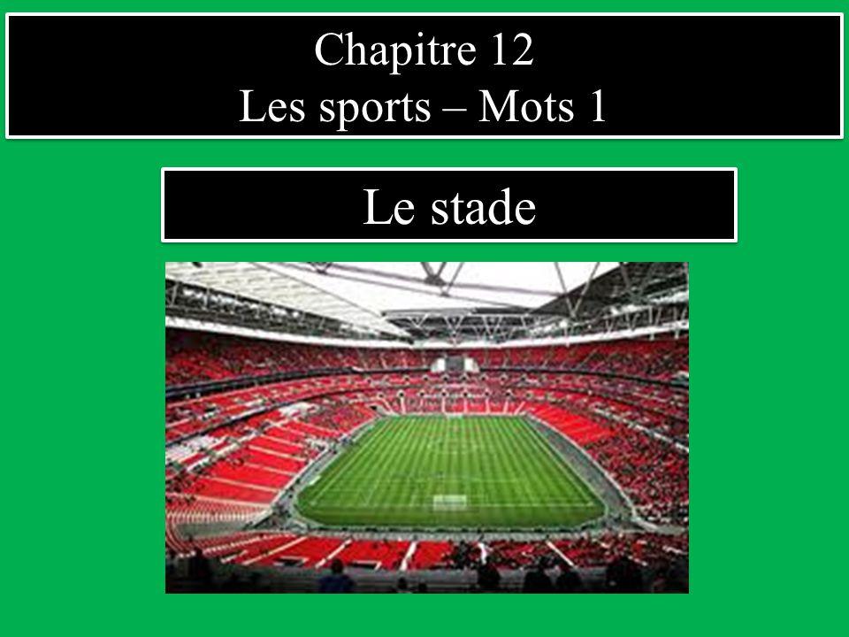Chapitre 12 Les sports – Mots 1 Chapitre 12 Les sports – Mots 1 Dans le stade Les gradins