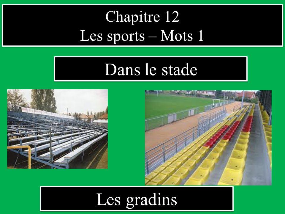 Chapitre 12 Les sports – Mots 1 Chapitre 12 Les sports – Mots 1 Dans le stade Les gradins sont pleins.