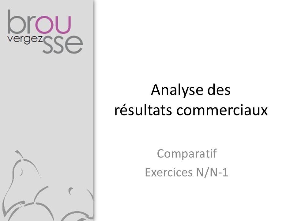 Analyse des résultats commerciaux Comparatif Exercices N/N-1