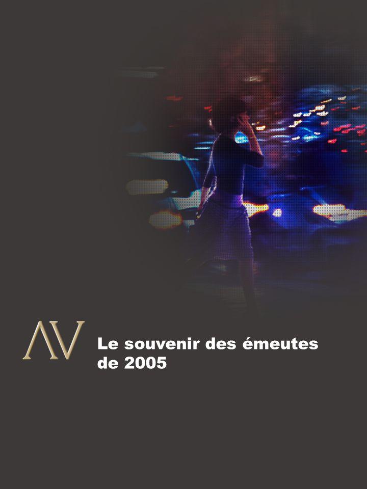 9 En novembre 2005 éclataient dans les banlieues franciliennes des émeutes qui ont duré près d'un mois.
