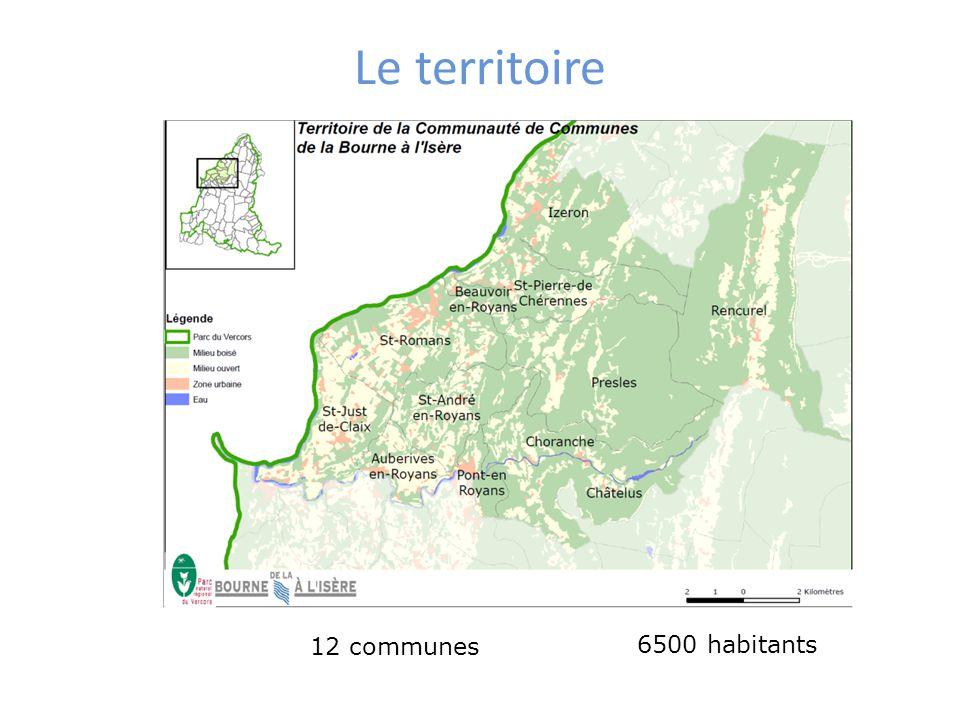Le territoire 12 communes 6500 habitants