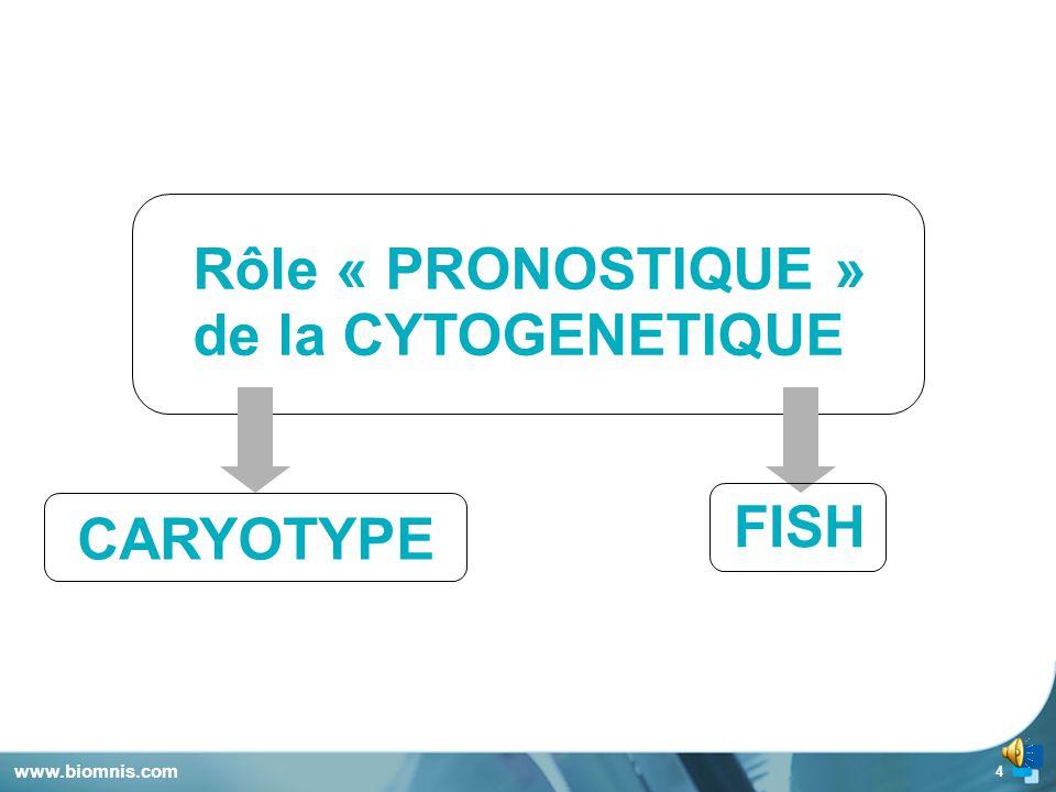 4 www.biomnis.com Rôle « PRONOSTIQUE » de la CYTOGENETIQUE CARYOTYPE FISH