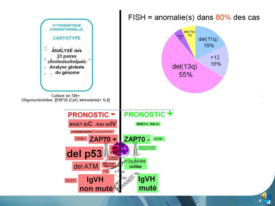 6 Culture en 72h+ Oligonucléotides: [DSP30 (CpG stimulants)+ IL2]