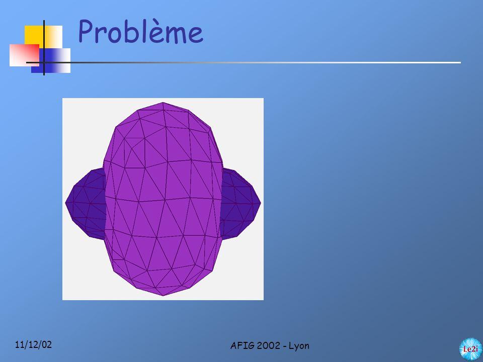 11/12/02 AFIG 2002 - Lyon Problème