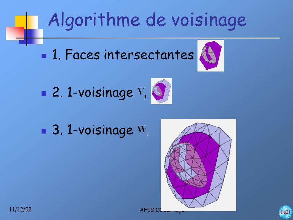 11/12/02 AFIG 2002 - Lyon 1. Faces intersectantes 2.