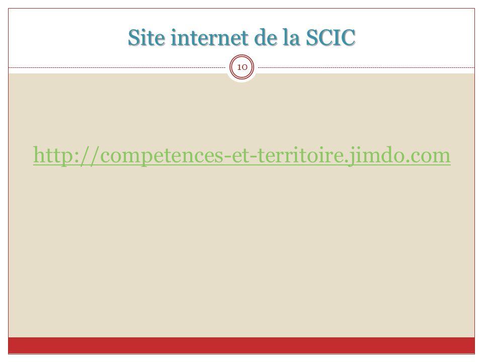 Site internet de la SCIC 10 http://competences-et-territoire.jimdo.com
