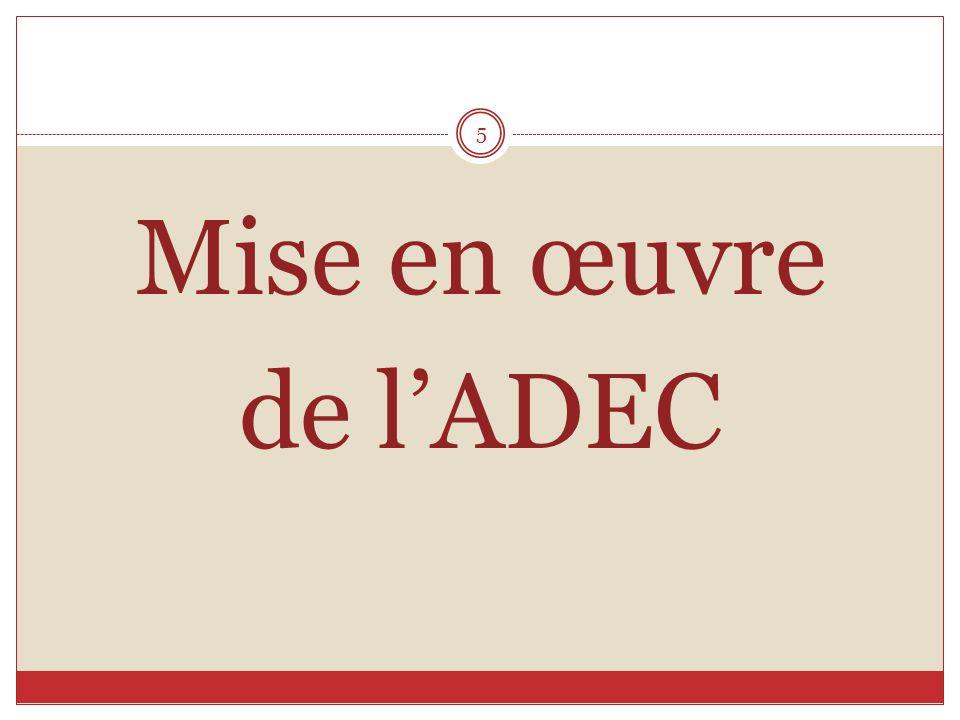 Mise en œuvre de l'ADEC 5