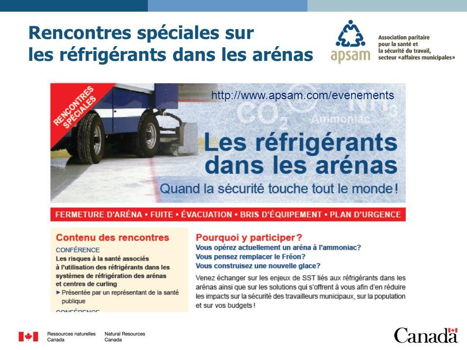 Rencontres spéciales sur les réfrigérants dans les arénas http://www.apsam.com/evenements