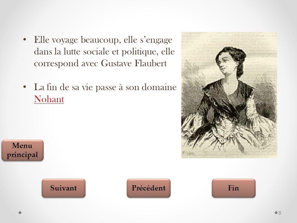 Fin Suivant Précédent 19 Testez vos connaissances Aurore Dupin Quel est le vrai nom de George Sand?.............................