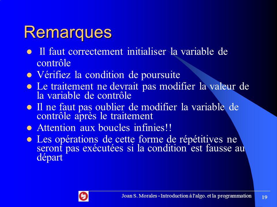 Joan S. Morales - Introduction à l algo.