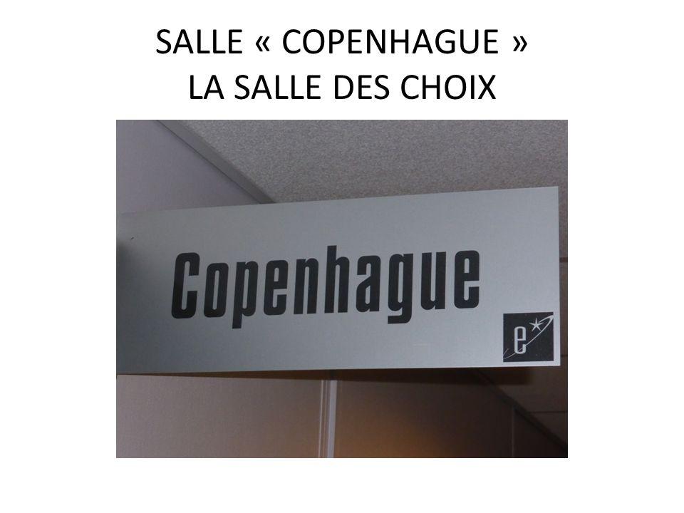 SALLE « COPENHAGUE » LA SALLE DES CHOIX