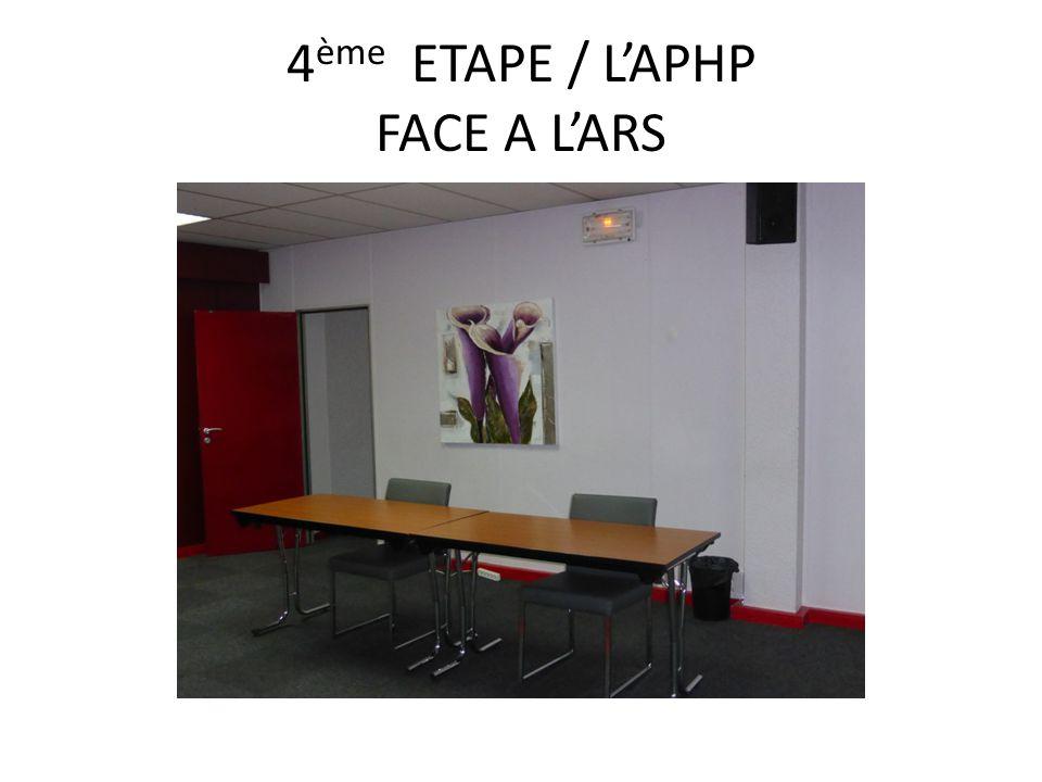 4 ème ETAPE / L'APHP FACE A L'ARS