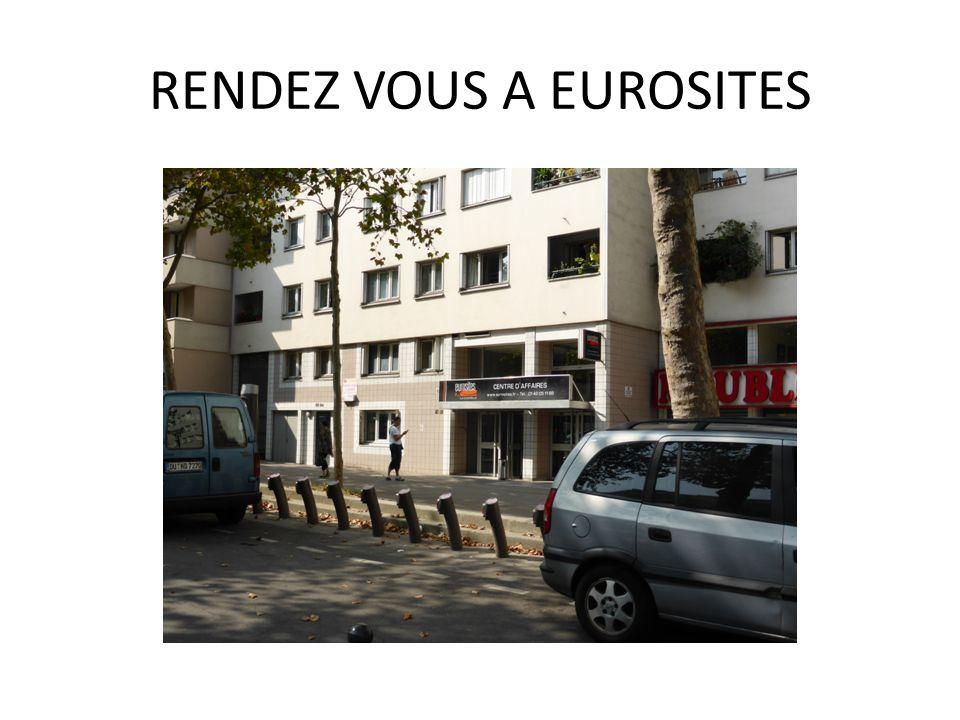 RENDEZ VOUS A EUROSITES