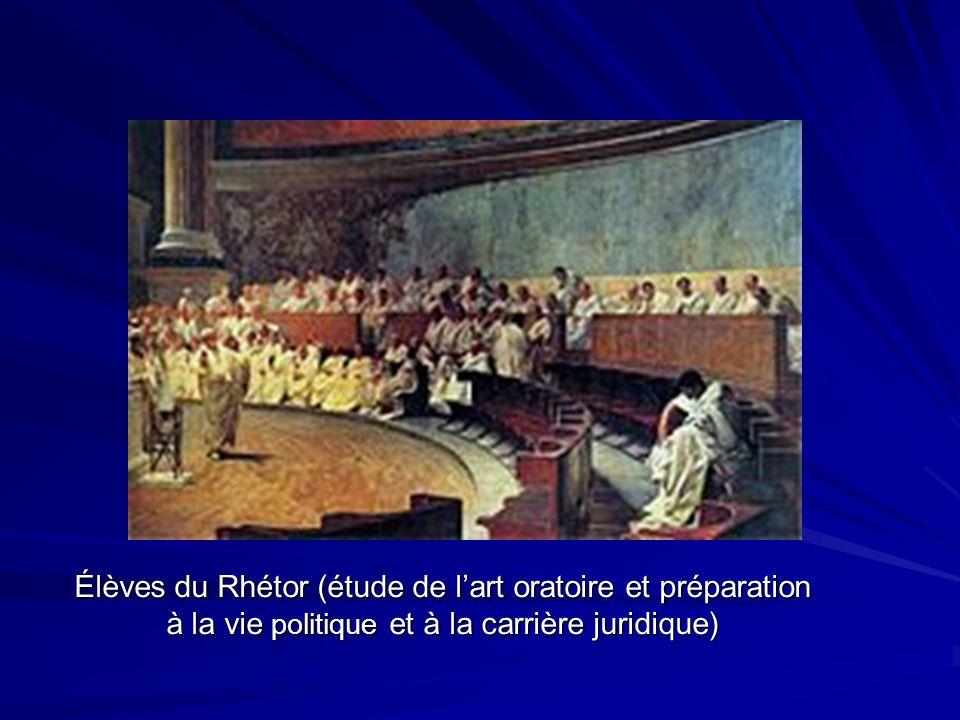 Élèves du Rhétor (étude de l'art oratoire et préparation à la vie politique et à la carrière juridique)