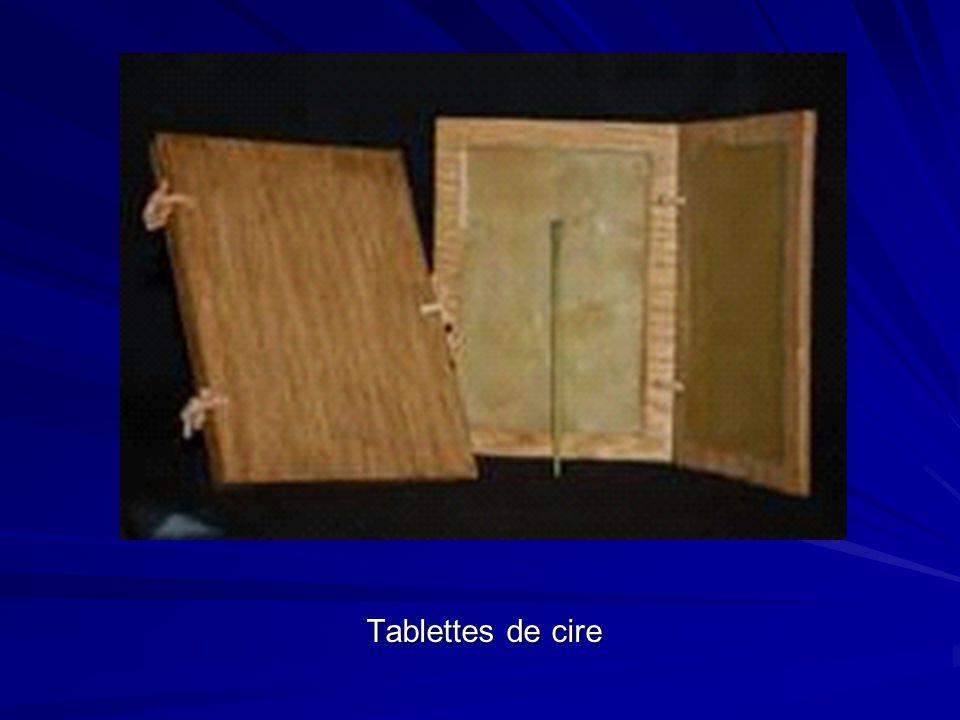 Tablettes de cire