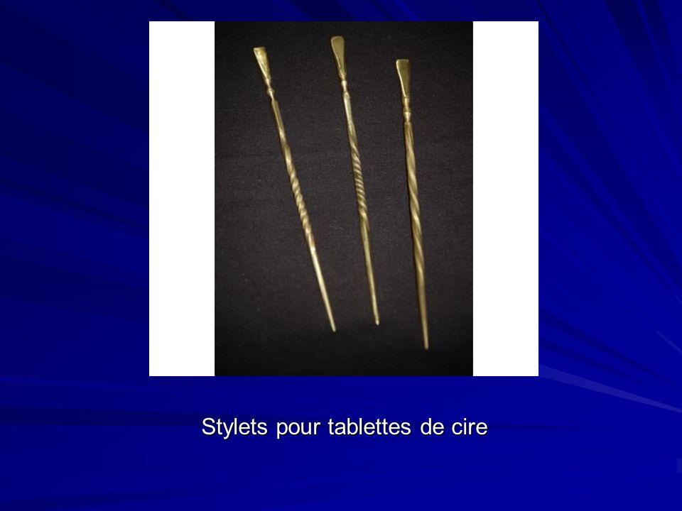 Stylets pour tablettes de cire