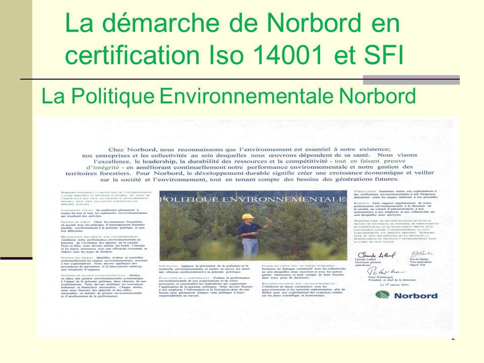 3 Contexte des marchés et territoires De plus en plus de clients exigent maintenant que les produits qu'ils achètent proviennent d'un aménagement forestier durable (AFD); Plusieurs normes de certification forestière et environnementale sont reconnues, notamment la Sustainable Forestry Initiative (SFI).