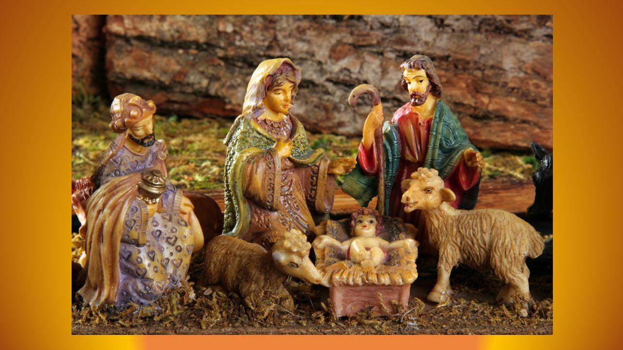 Vers onze heures du soir on partait à l'église La lumière était rare au long de nos chemins, Louer ce bon Jésus, celui qui divinise Au milieu de la crèche, enveloppé de lin.