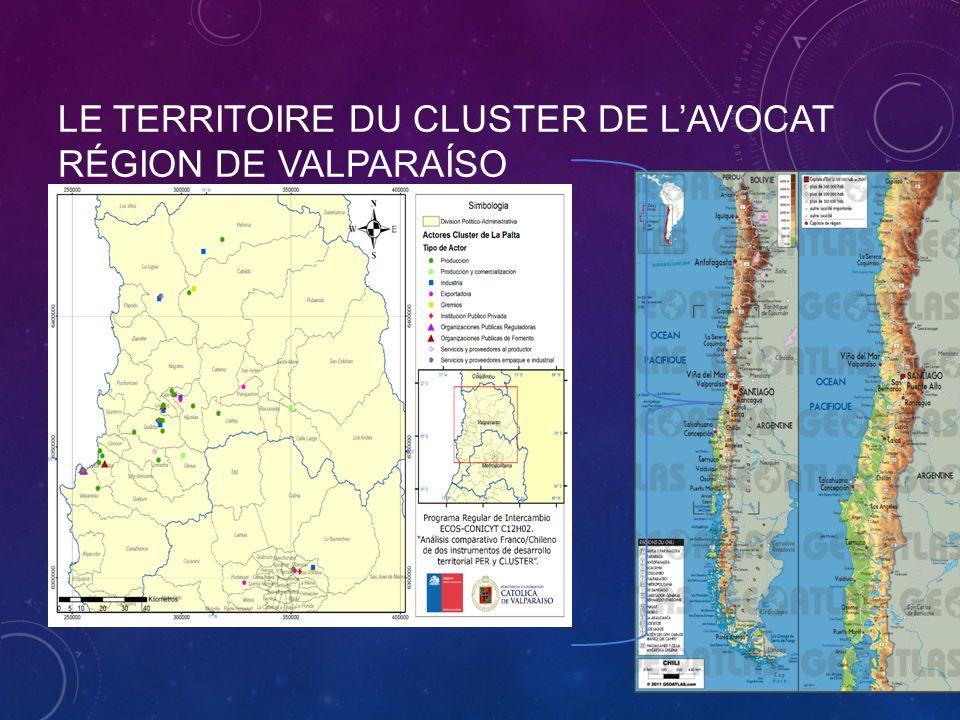 LE TERRITOIRE DU CLUSTER DE L'AVOCAT RÉGION DE VALPARAÍSO