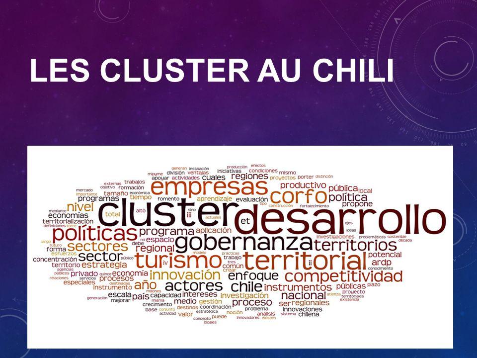 LES CLUSTER AU CHILI Dans cette communication nous allons nous centrer sur le cas du Chili