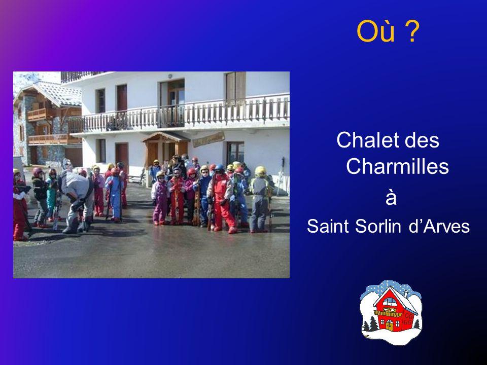 Où ? Chalet des Charmilles à Saint Sorlin d'Arves