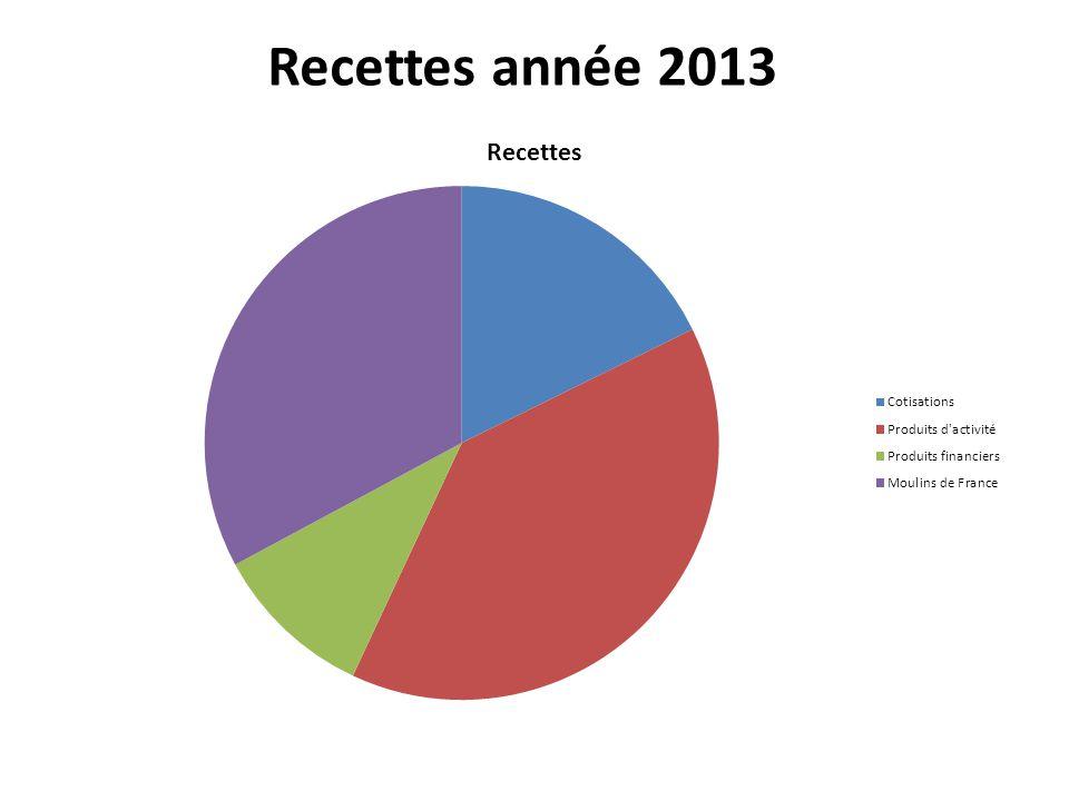 Recettes année 2013