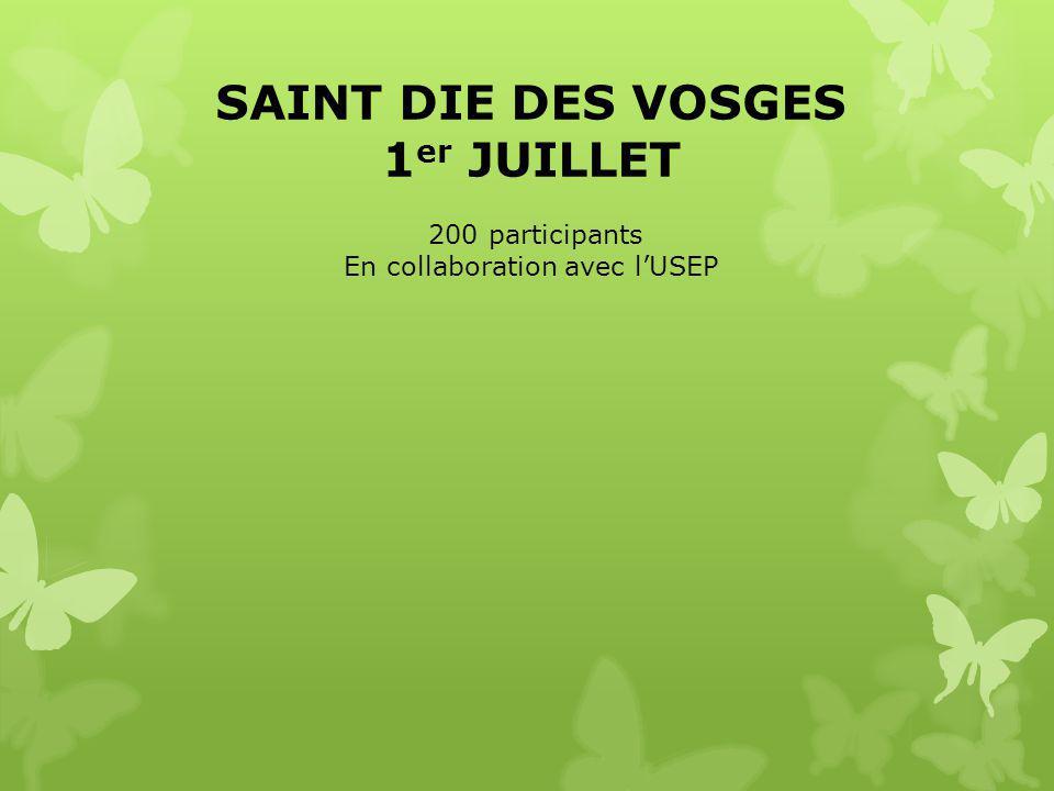 SAINT DIE DES VOSGES 1 er JUILLET 200 participants En collaboration avec l'USEP