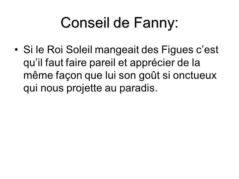Conseil de Fanny: Si le Roi Soleil mangeait des Figues c'est qu'il faut faire pareil et apprécier de la même façon que lui son goût si onctueux qui no