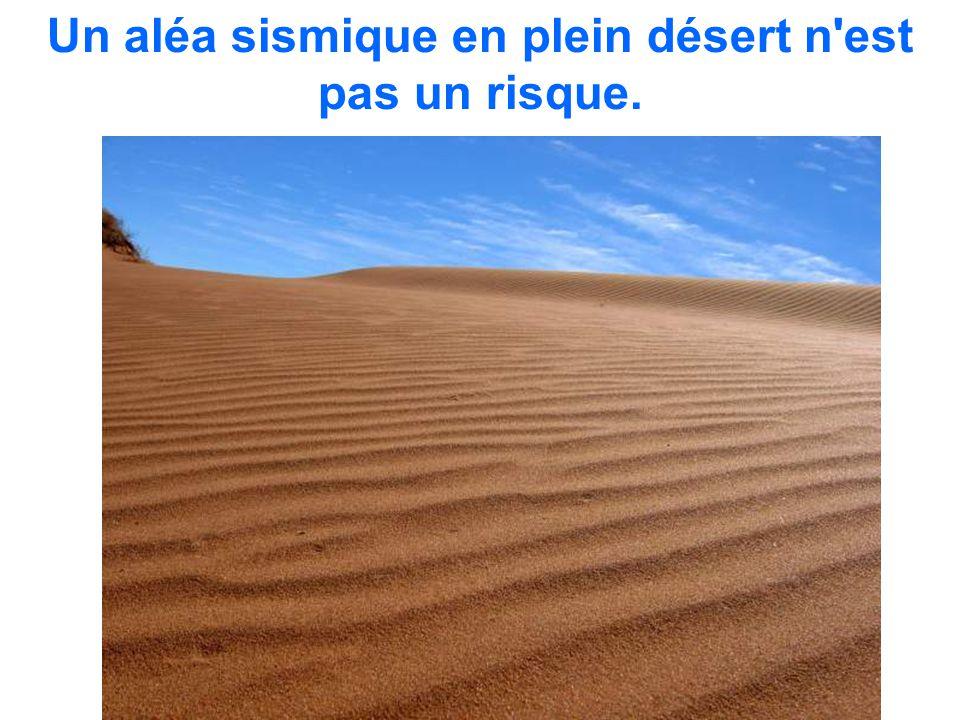 Un aléa sismique en plein désert n'est pas un risque.