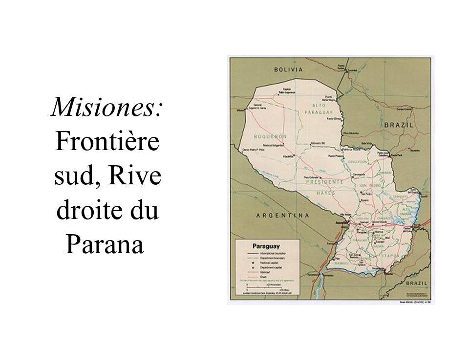 Misiones: Frontière sud, Rive droite du Parana