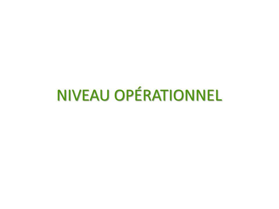 NIVEAU OPÉRATIONNEL