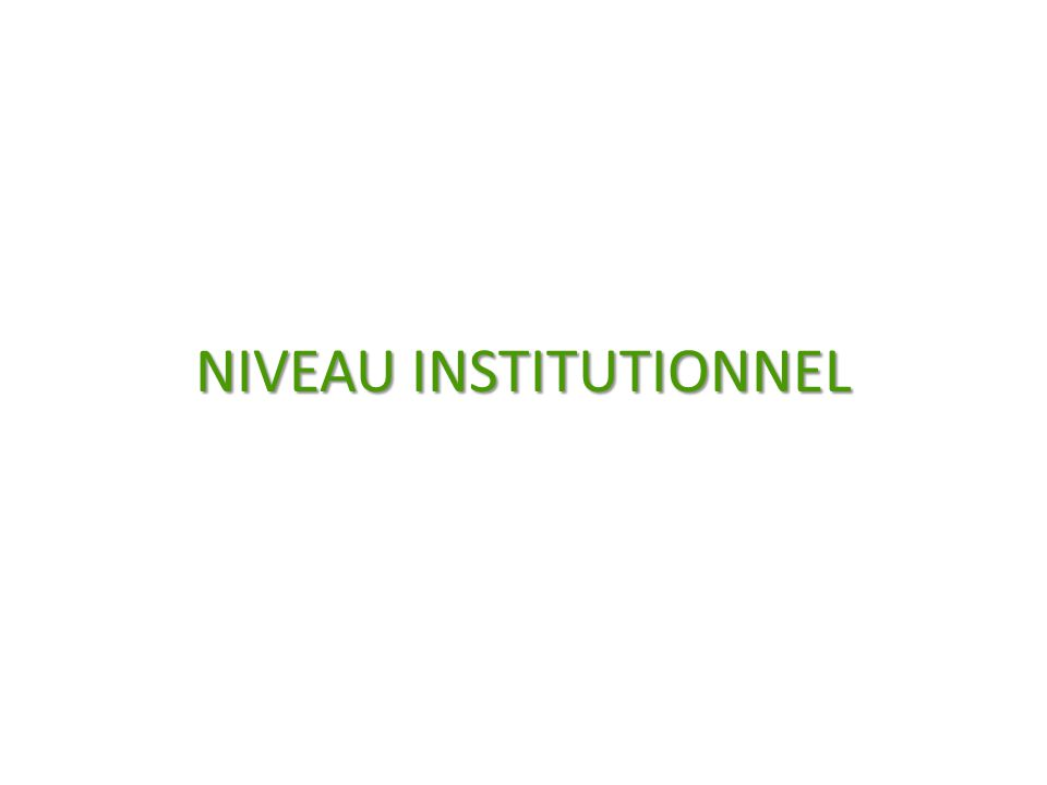 NIVEAU INSTITUTIONNEL