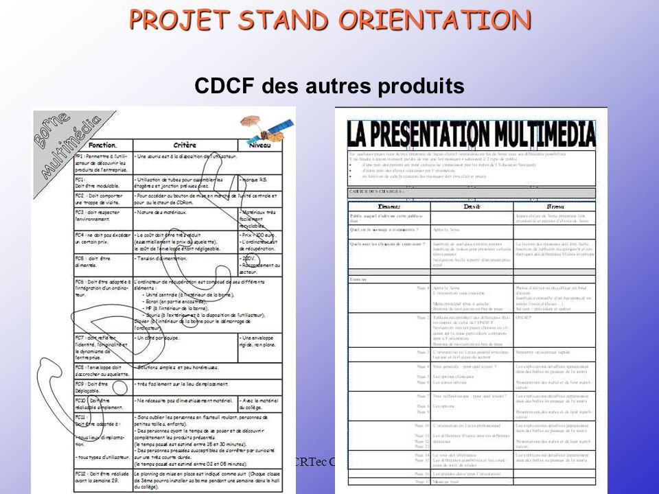 CRTec Chelles CDCF des autres produits PROJET STAND ORIENTATION