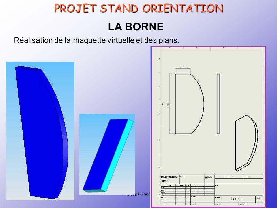 CRTec Chelles PROJET STAND ORIENTATION LA BORNE Réalisation de la maquette virtuelle et des plans.