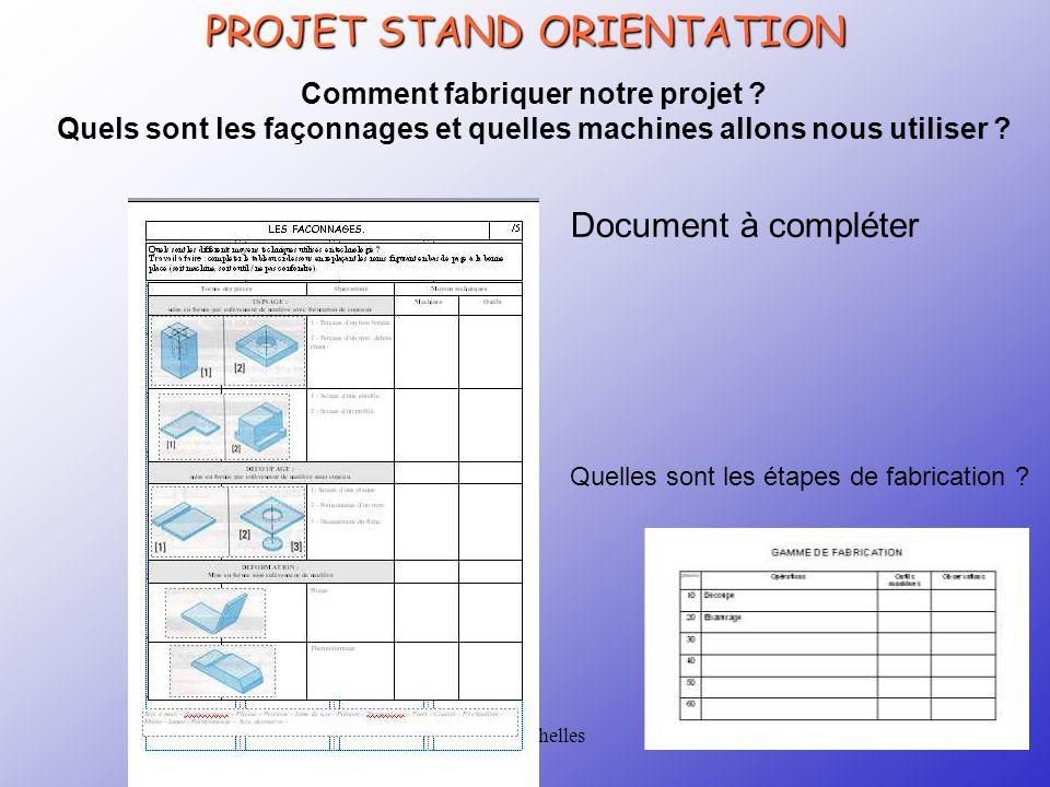 CRTec Chelles PROJET STAND ORIENTATION Comment fabriquer notre projet .