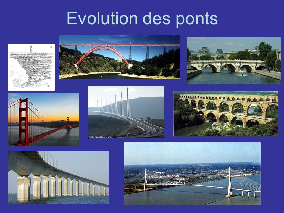 Evolution des ponts