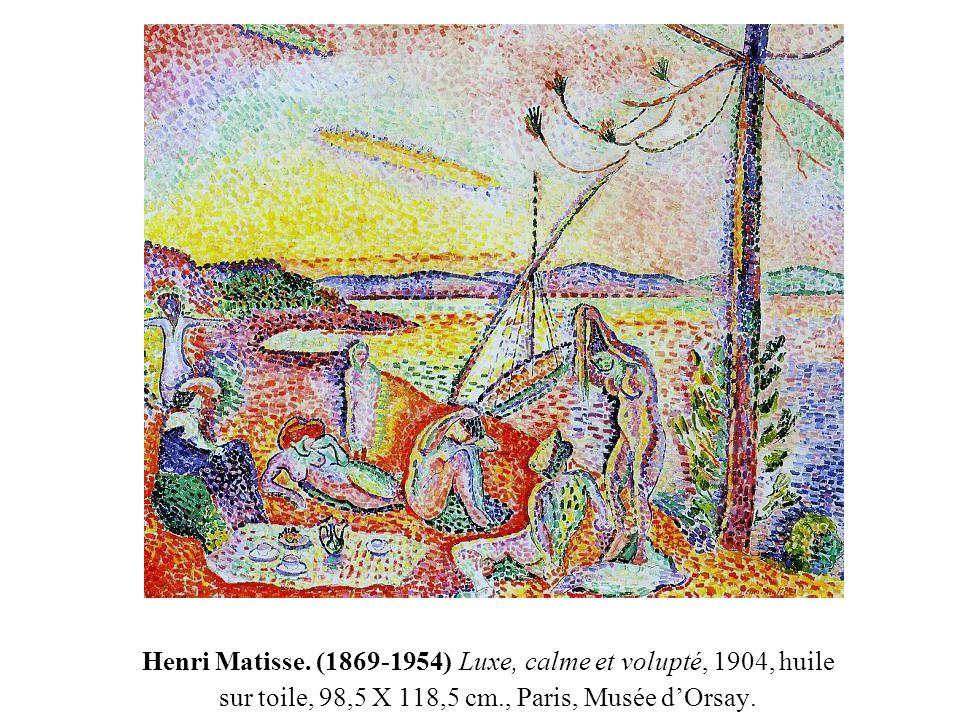 Henri Matisse. (1869-1954) Luxe, calme et volupté, 1904, huile sur toile, 98,5 X 118,5 cm., Paris, Musée d'Orsay.
