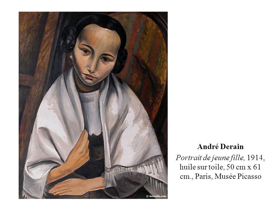 André Derain Portrait de jeune fille, 1914, huile sur toile, 50 cm x 61 cm., Paris, Musée Picasso