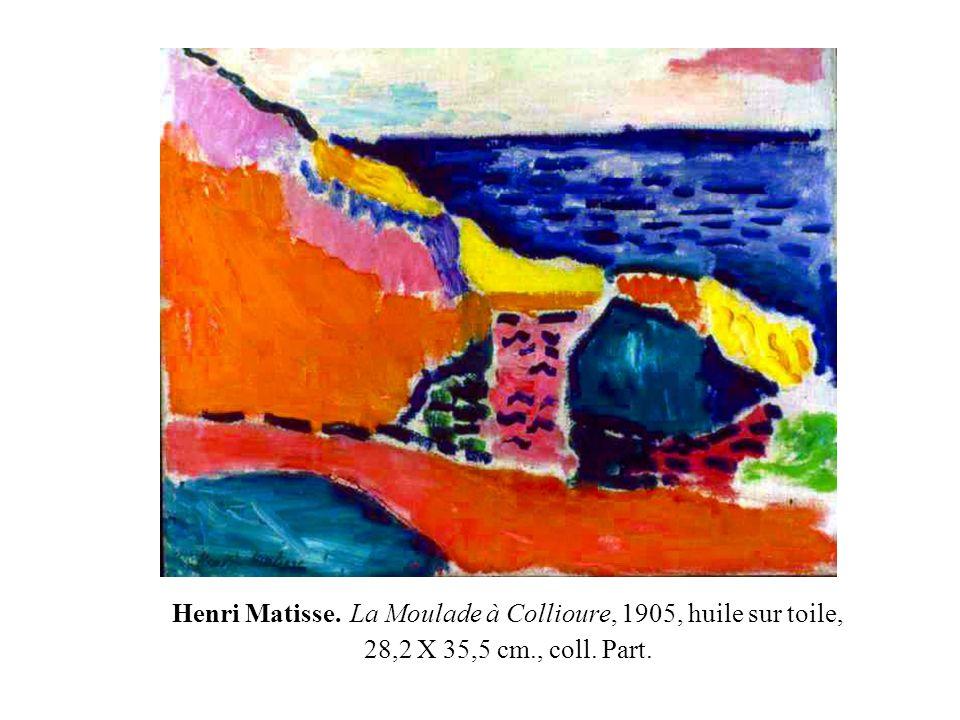 Henri Matisse. Intérieur à Collioure, la sieste 1905 59 X 72 cm. – huile sur toile – coll. part.
